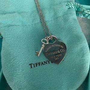 Tiffany's Heart Pendant with Key